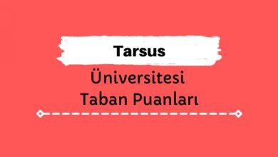 Tarsus Üniversitesi Taban Puanları ve Sıralamaları