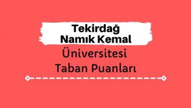 Tekirdağ Namık Kemal Üniversitesi Taban Puanları ve Sıralamaları, NKÜ Taban Puanları ve Başarı Sıralaması