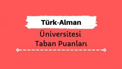 Türk-Alman Üniversitesi Taban Puanları ve Sıralamaları, TAÜ Taban Puanları ve Başarı Sıralaması