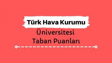 Türk Hava Kurumu Üniversitesi Taban Puanları ve Sıralamaları