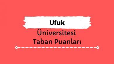 Ufuk Üniversitesi Taban Puanları ve Sıralamaları - UÜ
