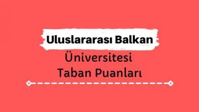 Uluslararası Balkan Üniversitesi Taban Puanları ve Sıralamaları - İBÜ