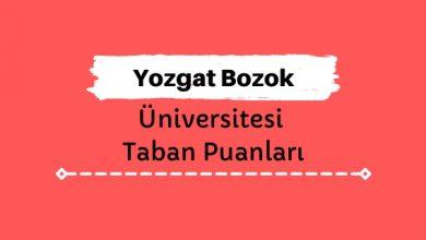 Yozgat Bozok Üniversitesi Taban Puanları ve Sıralamaları, YOBÜ Taban Puanları ve Başarı Sıralaması